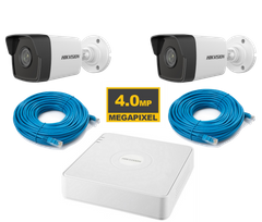 Комплект Hikvision KIT-IP 2 out 4 MP