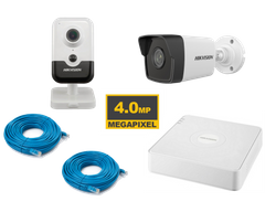 Комплект Hikvision KIT-IP 2 in out 4 MP